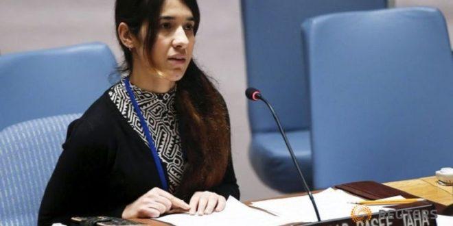 二十三歲的穆拉德,為首位聯合國暴行受害者親善大使。(圖片來源/翻攝自網站)