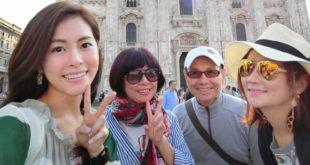 Selina(右)在旅遊中感受到一家人的心又更貼近了。(圖片提供:翻攝任家萱 Selina臉書)