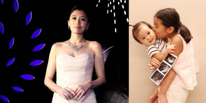 賈靜雯在懷第三胎,梧桐妹和咘咘相當開心。(圖片來源:陳得安攝&賈靜雯˙臉書)