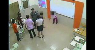 高雄有一名8歲男童,在安親班不小心甩書包打到一名女童的眼睛。結果,女童的家長來接她時,居然教唆女兒用鞋砸男童!(翻攝網路)