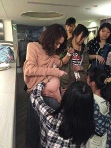楊丞琳為逼真扮演孕婦,分不同時期穿上不同尺寸的肚子。(圖片來源:好風光提供)