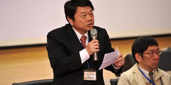全國家長會長聯盟理事長陳鐵虎表示,支持黃玉芬議員的提案,不應將多元性別融入國中小的課綱中。  圖片來源:全長聯官網