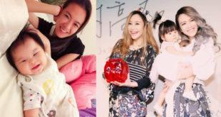 喜歡小孩的張芸京,早已認好友藍又時的女兒「小花」當乾女兒。(合成圖,圖片提供:翻攝張芸京 Jing Chang、藍又時 Shadya臉書)