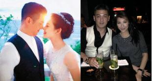 孫志浩和林若亞歷經分合4年多,上個月3日在關島教堂悄悄舉行婚禮。(合成圖,圖片提供:翻攝林若亞的小小天地臉書、孫志浩微博)