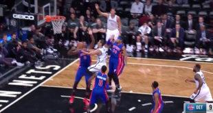 NBA台裔球星林書豪今天首度出賽,即拿下21分、5顆三分球的好表現。  圖片來源:影片截圖