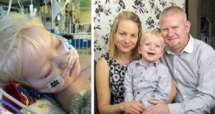 3歲的狄倫罹癌,在拔管前展現驚人求生意志,復原狀況良好的他,已於5月出院。(圖片來源/翻攝自網路)