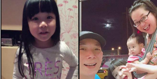 鍾欣凌在臉書貼出兔寶的影片,兔寶(圖左)問:「拔拔麻麻我漂不漂亮」,可愛模樣曝光令粉絲窩心。(合成圖,圖片提供:翻攝鍾欣凌臉書)