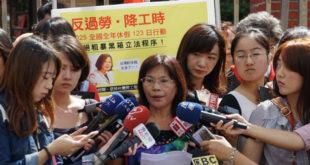 國民黨工會理事長劉慧玲出面回應,強調國民黨工也是受《勞基法》保障的員工,和一般大眾無異,且雇主就是國民黨,已經做好各種和國民黨勞資協商的準備。  圖片來源:馮紹恩攝