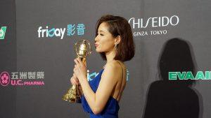 迷你劇視后尹馨表示媽媽在得獎前傳訊息她說:「不管有沒有得,都是神的計畫」。(圖片來源:梁浩文攝)