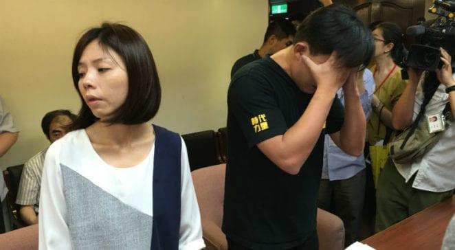 時代力量立委黃國昌痛批民進黨,情緒激動。 圖片來源:馮紹恩攝