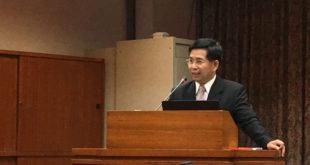 教育部長潘文忠表示,教官將採漸進式的退出校園。  圖片來源:馮紹恩攝
