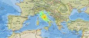 從圖片看來,地震影響的幅度相當大。(圖片來源/翻攝自USGS網站)