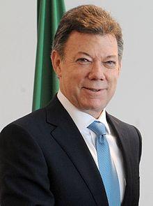 哥倫比亞總統桑托斯簽署和平協議,為終結內戰的決心有目共睹。(圖片來源/翻攝自維基)