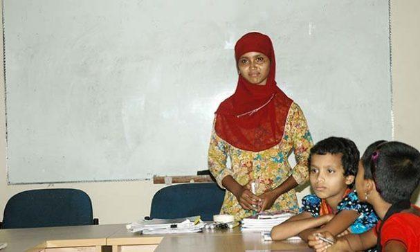 賽柏娜參加世界展望會成立的兒童社團,學習兒童權利、童婚的不良影響等議題。(照片由台灣世界展望會提供)