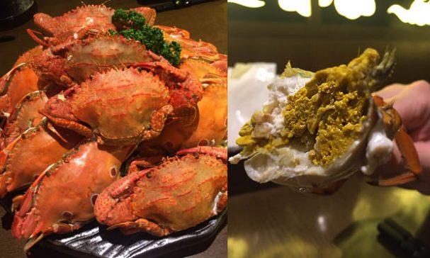 每桌客人必點的肥美秋蟹,料里長阿寶師說,當季食材直接清蒸最好吃。(照片由店家提供)