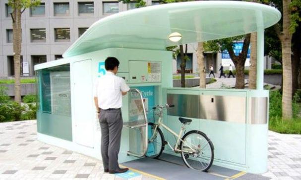 佔地不大的泊車亭,地底下是一座巨大的自行車停車場。(照片摘自每日𨛘報)