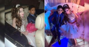 埃及出現一起童婚案例,12歲男童娶11歲的表妹,婚禮奢華高調引起媒體及人權組織關注。(照片摘自:每日郵報)