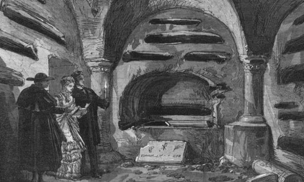 考古學家認為墓穴內部的架構為(照片摘自antiquemapsandprints)