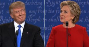 美國總統大選的第二場總統候選人辯論,於台灣時間今天上午9時舉行,兩位候選人希拉蕊、川普彼此針鋒相對,火藥味十足。