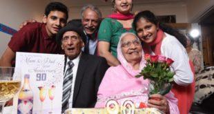 英國印度裔人瑞錢德與妻子結縭90年,直到錢德過世後才終止這段童話般的愛情。(圖片來源/翻攝自網路)
