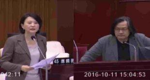 昨天,王鴻薇議員就老屋健檢政策缺失,向都發局局長林洲民開砲。(圖片來源:截圖至Youtube)