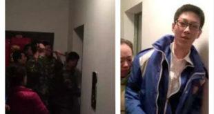 大陸中學生孫軼瀟受困電梯臨危不亂。(圖片來源:http://www.enanyang.my/)