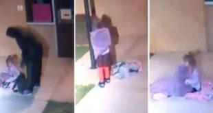 美國一名狠心爸爸, 在在氣溫只有4度的深夜,把5歲女兒丟棄在空無一人的校園裡。(圖片來源/翻攝自網路)