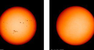 科學家指出,太陽表面出現「無黑子」現象,他們憂心「小冰河期」可能提前在2019年底前到來。(圖片來源/翻攝自NASA)
