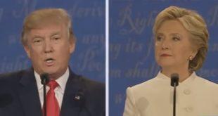 美國總統大選終場辯論,最新民調顯示,52%民眾認為希拉蕊表現較好,勝過川普的39%。(圖片來源/翻攝自YouTube)