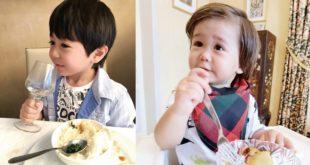 亞歷與肥安現在上餐廳,對於自己要吃甚麼都很有想法。(圖片提供:時報出版《亞歷、肥安這樣長大:可愛生活寫真紀錄×混搭式教養分享》)