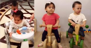 賈靜雯和徐若瑄的寶貝兒女,咘咘、小V寶生日只差一天。(合成圖,圖片提供:翻攝徐若瑄 Vivian Hsu臉書)
