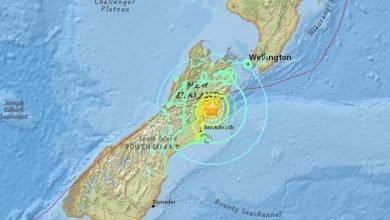 Photo of 紐西蘭7.8強震釀2死 鐵路停駛、中央商業區封閉