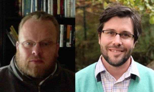 吉米亞當斯(左)及萊恩萊特兩人於去年發表同性伴侶小孩的研究中,被專家質疑其研究方法有瑕疵。(圖片摘自ucdenver/uoregon)