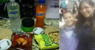 曾經無家可歸的男童狄倫,每天多帶一份午餐,給家境清寒的同學。(圖片來源:facebook/Josette Duran)