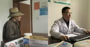 蔣醫師接連17次耐心回應老翁相同的詢問。(圖片來源:http://m.news.lizhixia.com/)