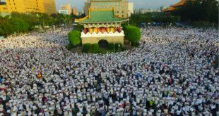 幸福盟原本號召10萬人,結果當天台北場就來了15萬人,北中南合計20萬人。(圖片來源:下一代幸福聯盟)