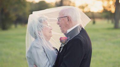 Photo of 結婚70年後才拍婚紗照 90歲爺奶再次當新人