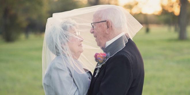 結婚70年後才拍婚紗照 90歲爺奶再次當新人