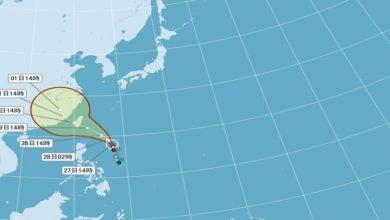 Photo of 尼莎颱風持續增強 彭啟明:周末須嚴加戒備