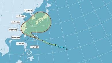 Photo of 泰利颱風往北轉 下午發布海警最快明晨陸警