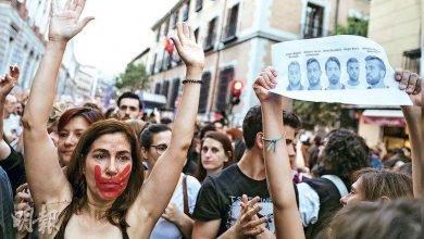 Photo of 西班牙法院輕判5惡狼輪姦案 3.5萬人連3天上街抗議