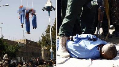 Photo of 葉門3戀童男性侵殺害10歲男童 遭公開槍決吊屍示眾