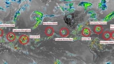 Photo of 北半球「9颱連線」繞地球一圈  網友:上帝要來了嗎?