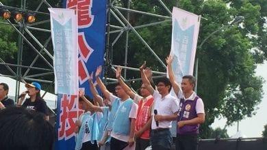 Photo of 反蔡政府「鐵籠公投」凱道會師 民眾高喊「還我公投」