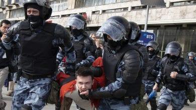 Photo of 俄取消反對派參選權 逾600民眾因非法抗議行動被逮捕
