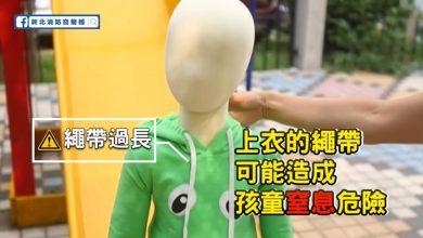 Photo of 家長注意!14歲以下孩子穿這樣的衣物易造成危險 嚴重恐窒息致命