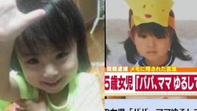 Photo of 日本5歲女童被虐死前還道歉「拜託原諒我!」 惡繼父遭求刑18年