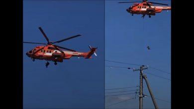 Photo of 哈吉貝肆虐日本58人死亡、211人受傷 77歲婦搭救難直升機竟墜落慘死
