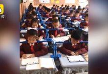 Photo of 陸陝西小學生課桌裝「矯正神器」 網友:上課不能打嗑睡了