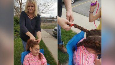 Photo of 美喪母11歲女童頭髮好亂 暖心校車司機天天幫她編髮